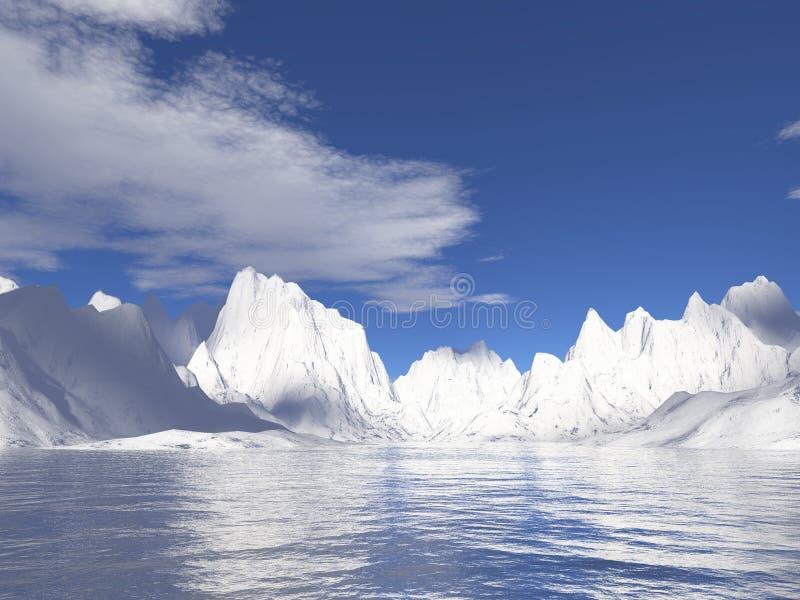 вода отражения ледников Аляски стоковое фото rf