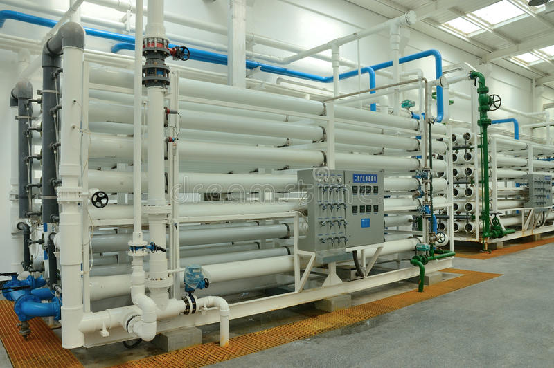 вода очищения фабрики стоковое изображение rf