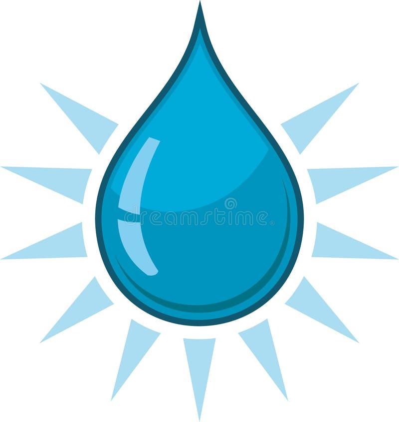 вода падения иллюстрация вектора