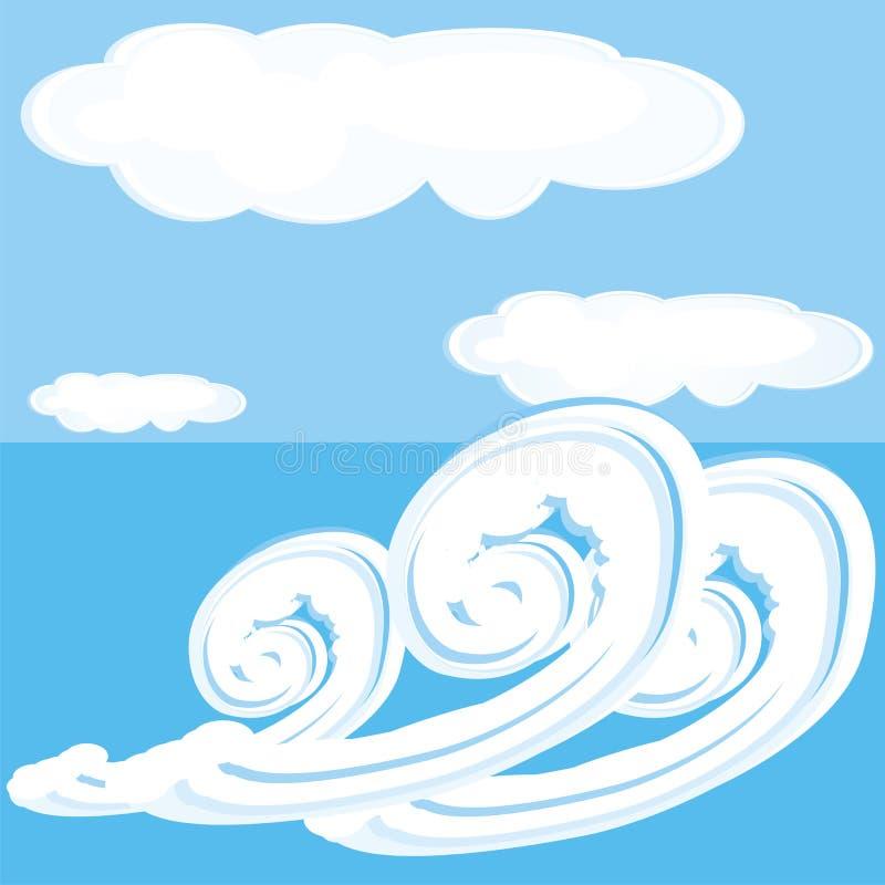 вода пасмурного неба стоковая фотография rf