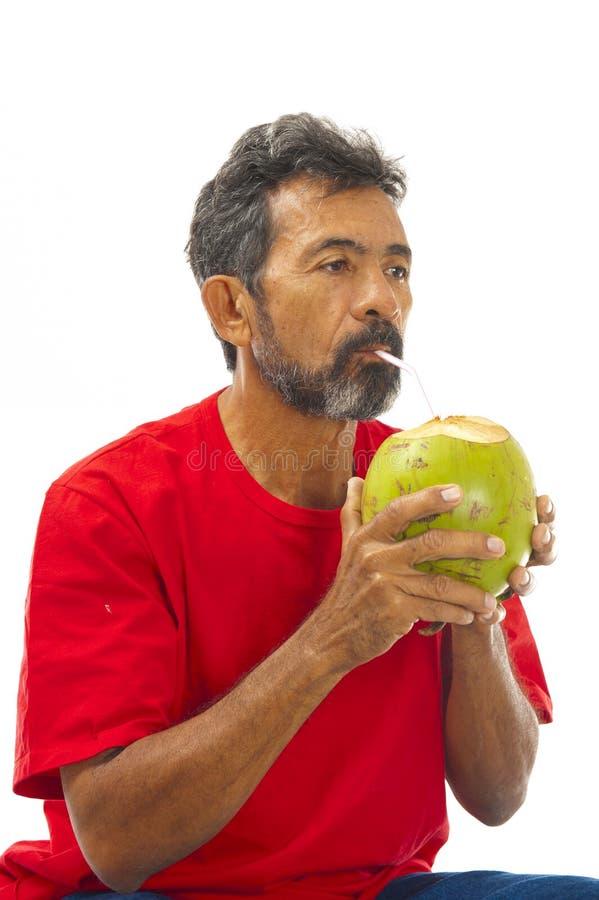 вода питья кокоса стоковое фото