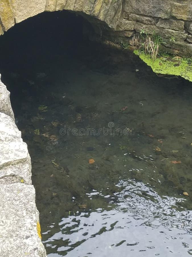 Вода под мостом стоковая фотография rf