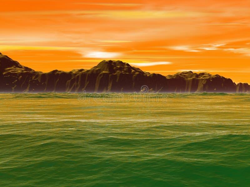 Download вода предпосылки зеленая иллюстрация штока. иллюстрации насчитывающей будущее - 488762