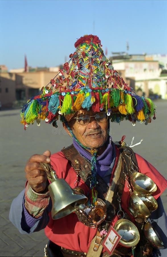 вода продавеца marrakesh Марокко стоковая фотография