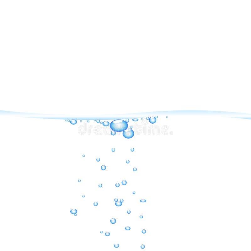 вода пузырей иллюстрация штока