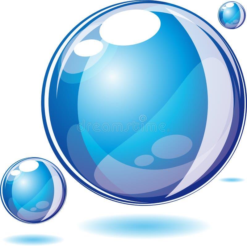 вода пузыря иллюстрация вектора