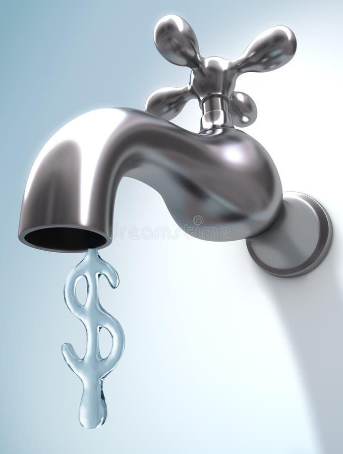 вода сбережени иллюстрация вектора