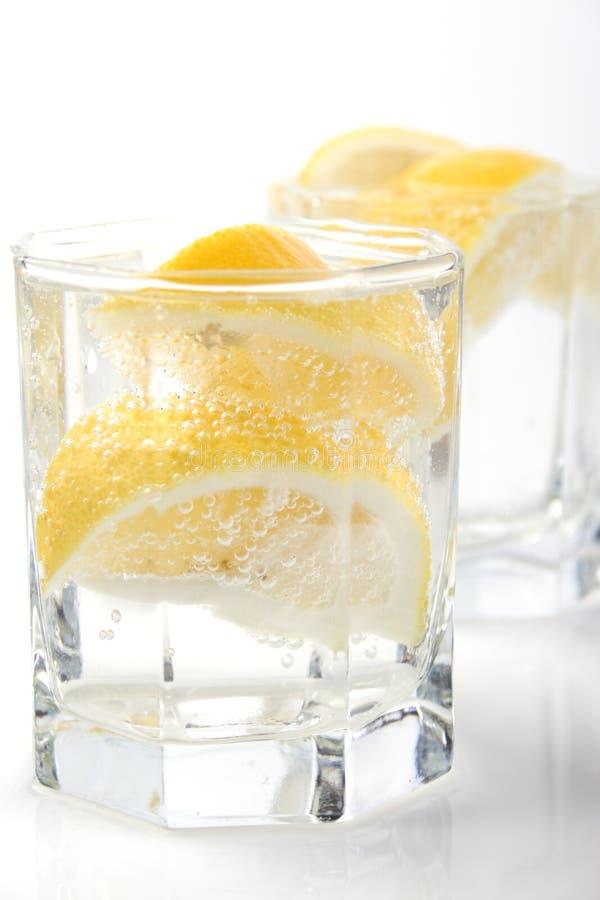 вода соды лимона стекел стоковое изображение