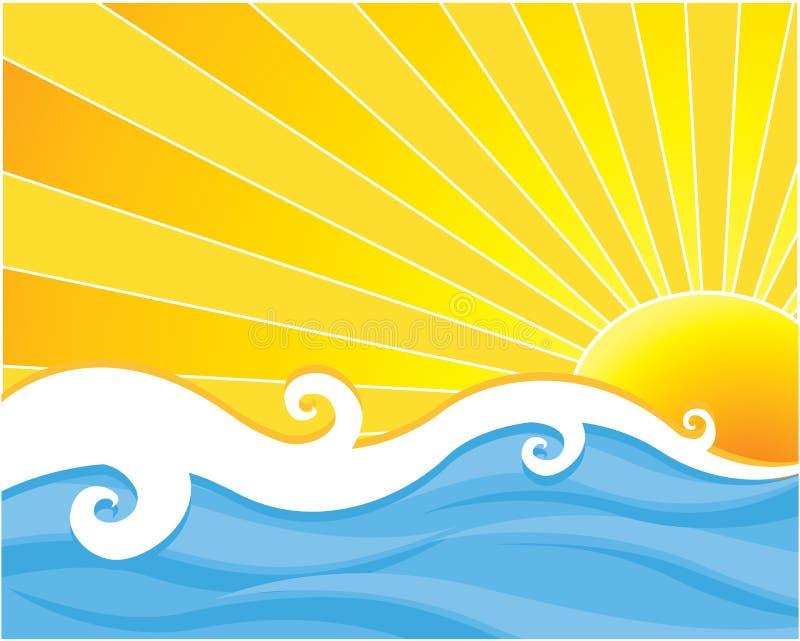 вода солнца иллюстрация вектора