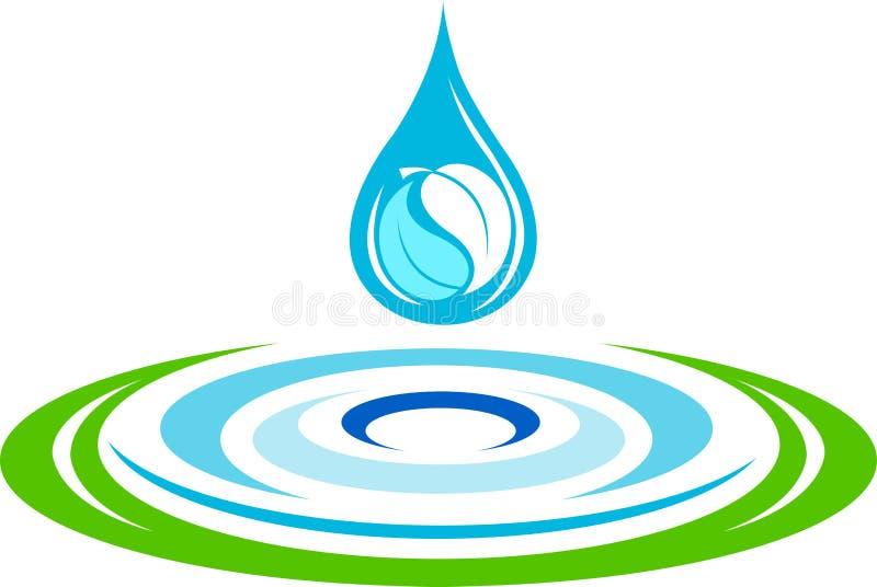 Вода струится логос иллюстрация вектора
