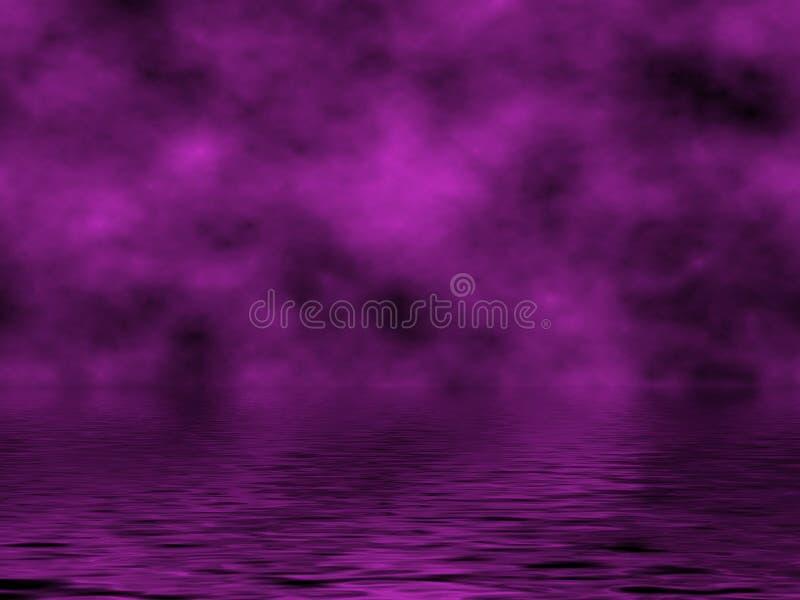 вода фиолета неба иллюстрация вектора