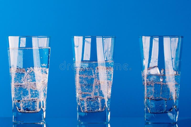 вода холодных стекел 3 стоковая фотография