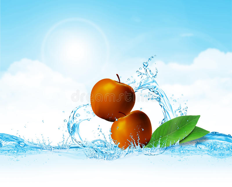вода яблока стоковые изображения rf