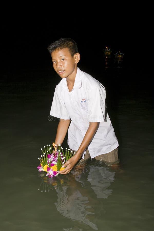 вода krathong празднества loy стоковые изображения rf