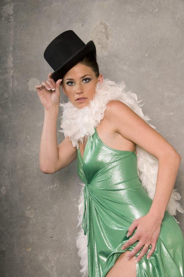 водевиль танцора стоковое фото
