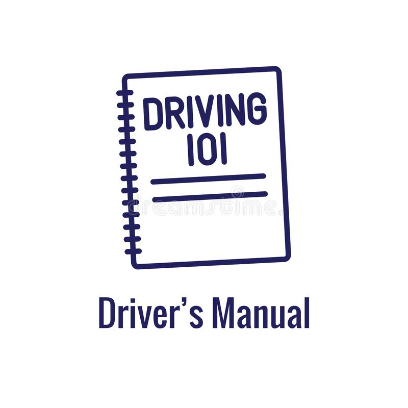 Водители испытывают и лицензируют набор значка и - знамя заголовка сети бесплатная иллюстрация