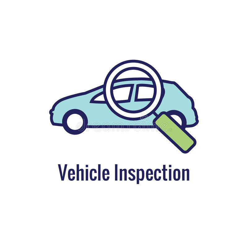 Водители испытывают и лицензируют набор значка и - знамя заголовка сети иллюстрация штока