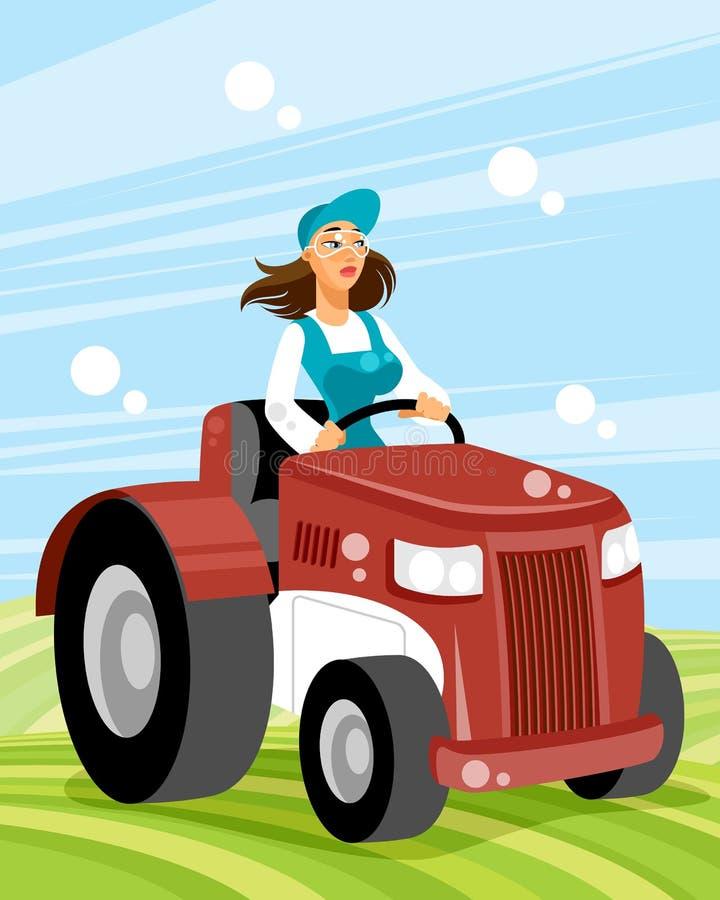 Водитель женщины на переходе бесплатная иллюстрация