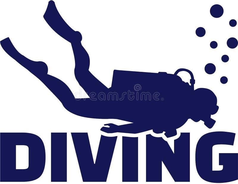 Водолаз акваланга бесплатная иллюстрация