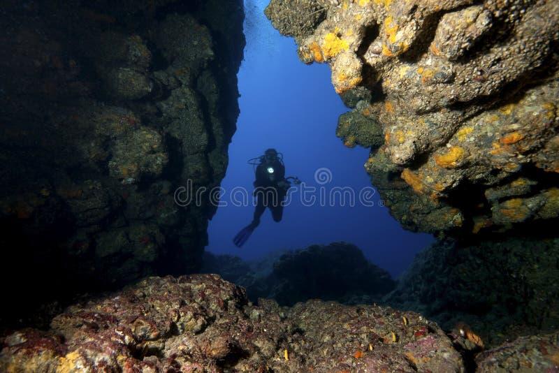 водолаз подземелья стоковое фото