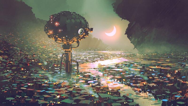 Водонапорная башня для мрачного мира бесплатная иллюстрация