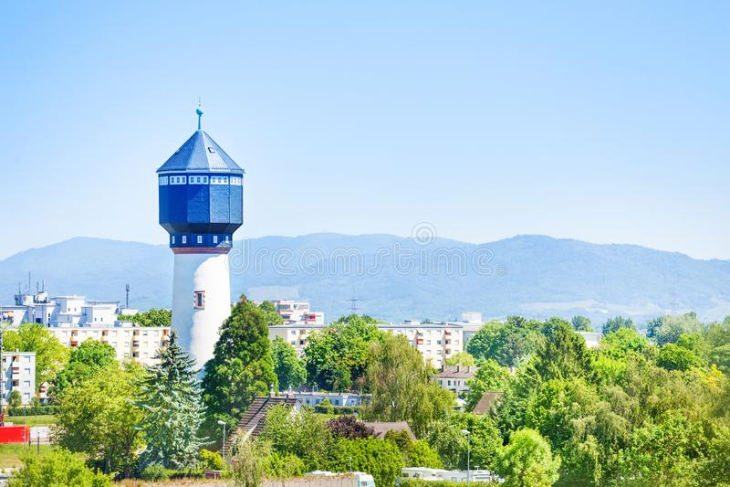 Водонапорная башня Wasserturm в Kehl, Германии стоковая фотография rf