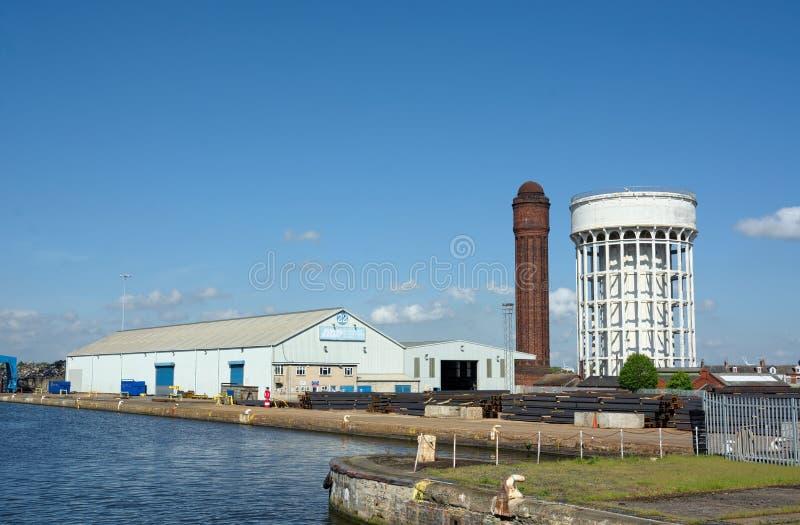 Водонапорные башни Баки соли & перца, Goole, восточное катание Йоркшира, Великобритании стоковая фотография rf