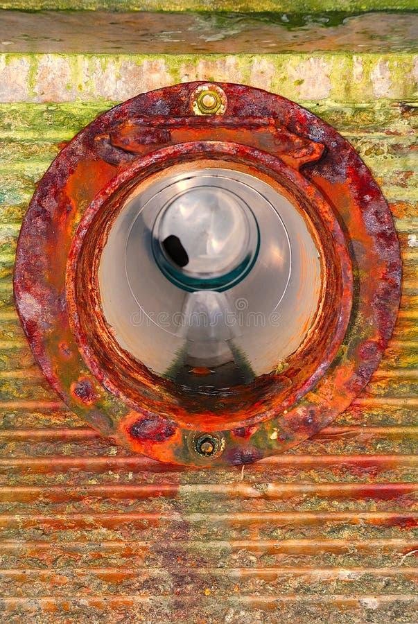 Водоотводная труба морской дамбы стоковое фото rf