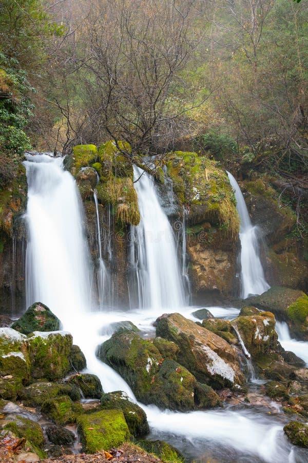 Водопады Аду, Северная Каталония стоковые фото