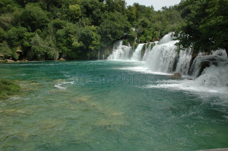 Водопады в хорватском полуострове стоковая фотография rf