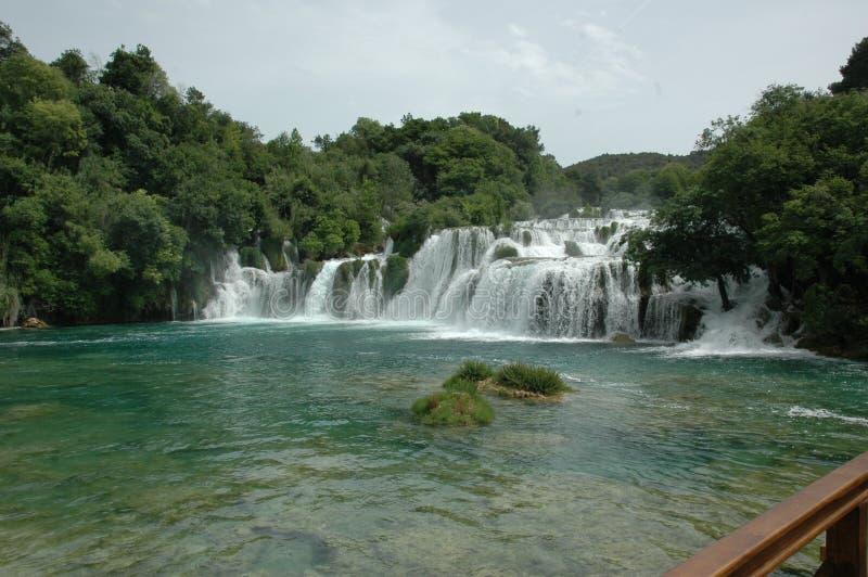 Водопады в хорватском полуострове стоковые фото
