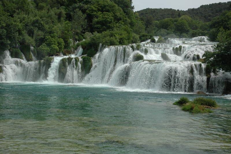 Водопады в хорватском полуострове стоковое фото rf
