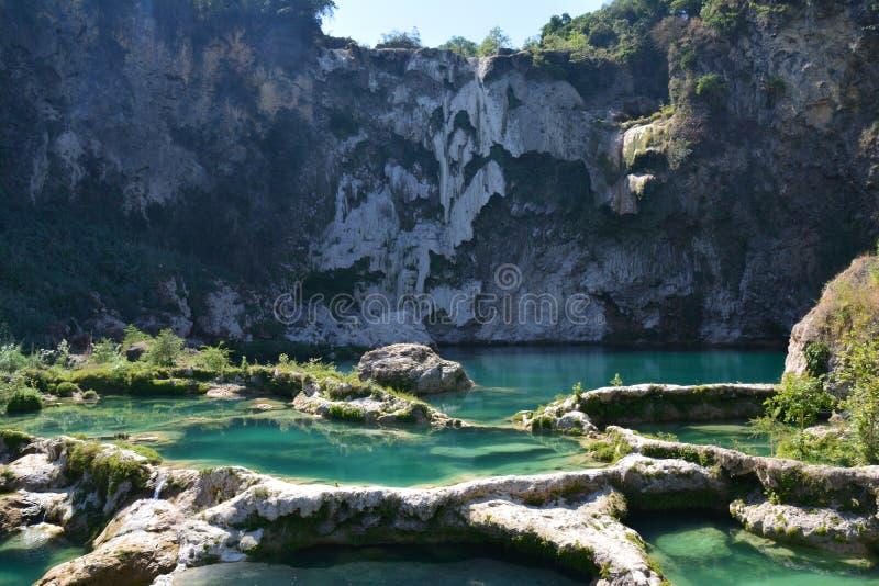 Водопады и реки в Ла Huasteca Potosina Мексике стоковое фото