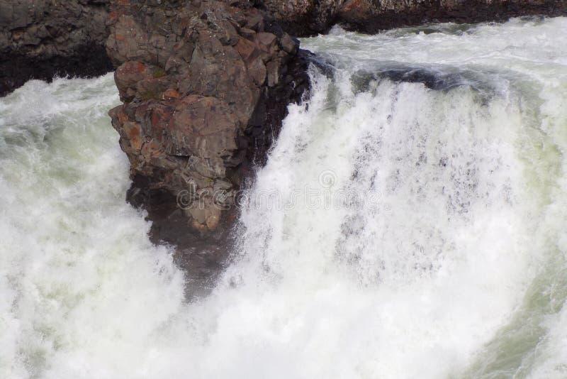Водопады на реке Spokane в Spokane, Вашингтоне стоковые фото