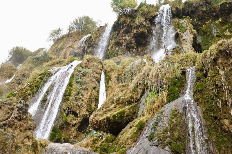 Водопады Girlevik в городе Erzincan восточной Турции стоковые фото