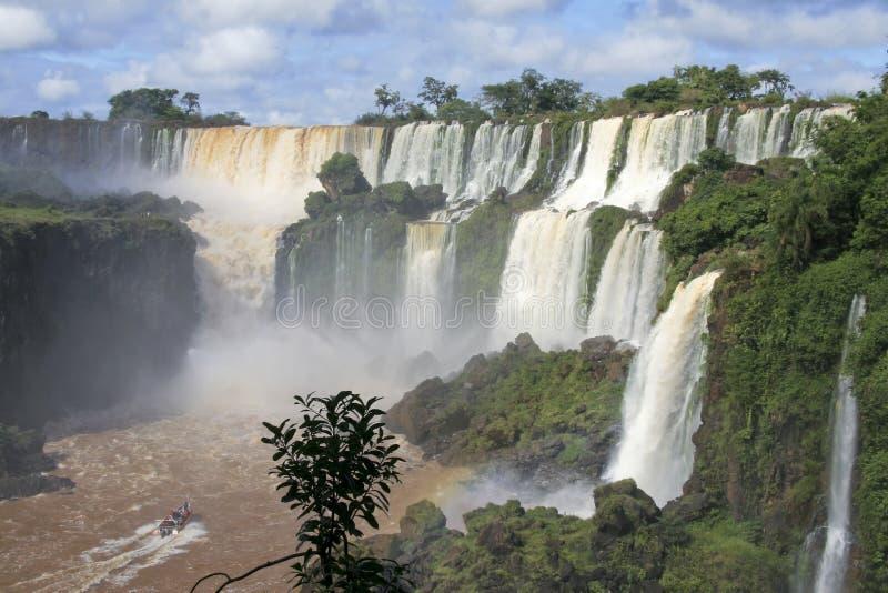 водопады iguazu Аргентины стоковое изображение rf