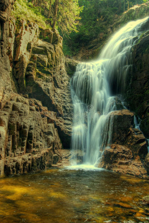водопады kamie czyk стоковое фото