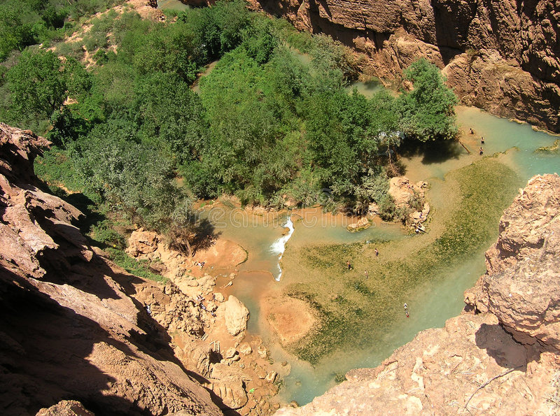 водопад бассеина s Аризоны стоковое фото rf