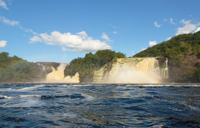 водопад Венесуэлы canaima стоковые фотографии rf
