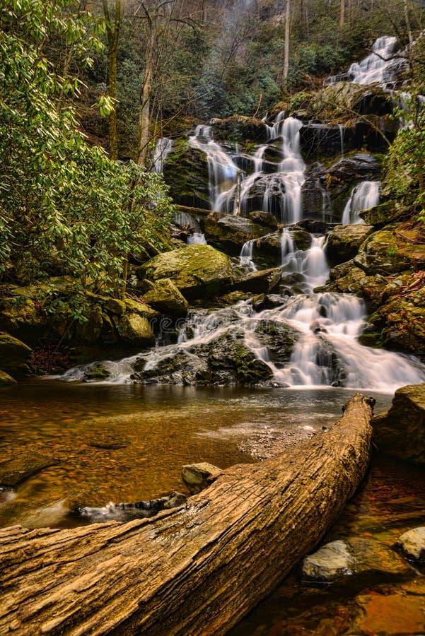 Водопад весной стоковая фотография