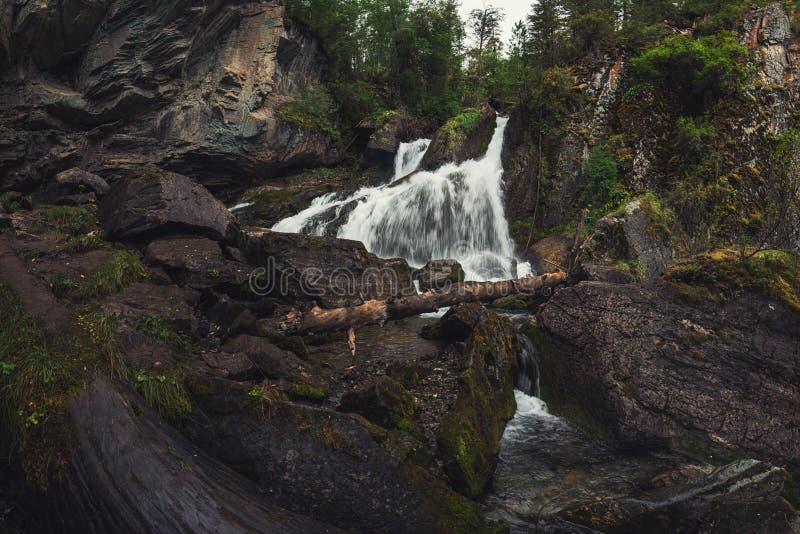 Водопад в горах Altai стоковые изображения rf