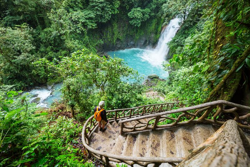 Водопад в Коста-Рика стоковые изображения