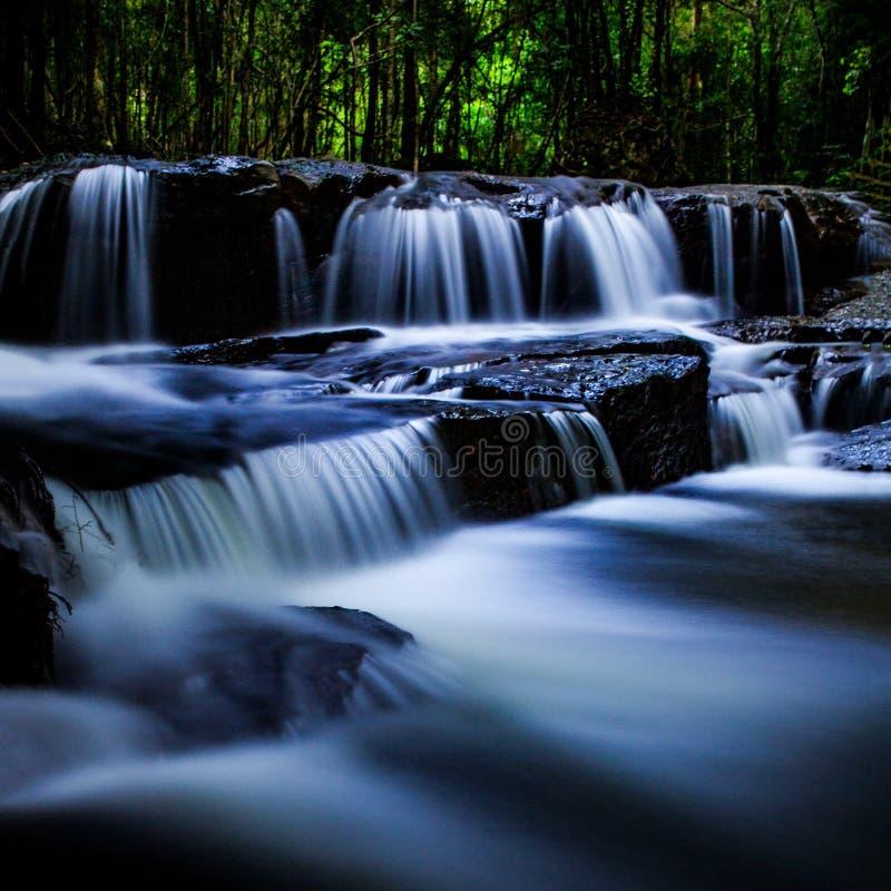 Водопад в потоке tranh стоковые изображения rf