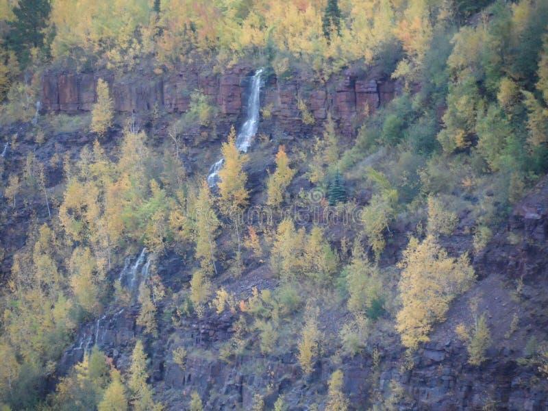 Водопад в яме Минесоте минирования стоковая фотография rf
