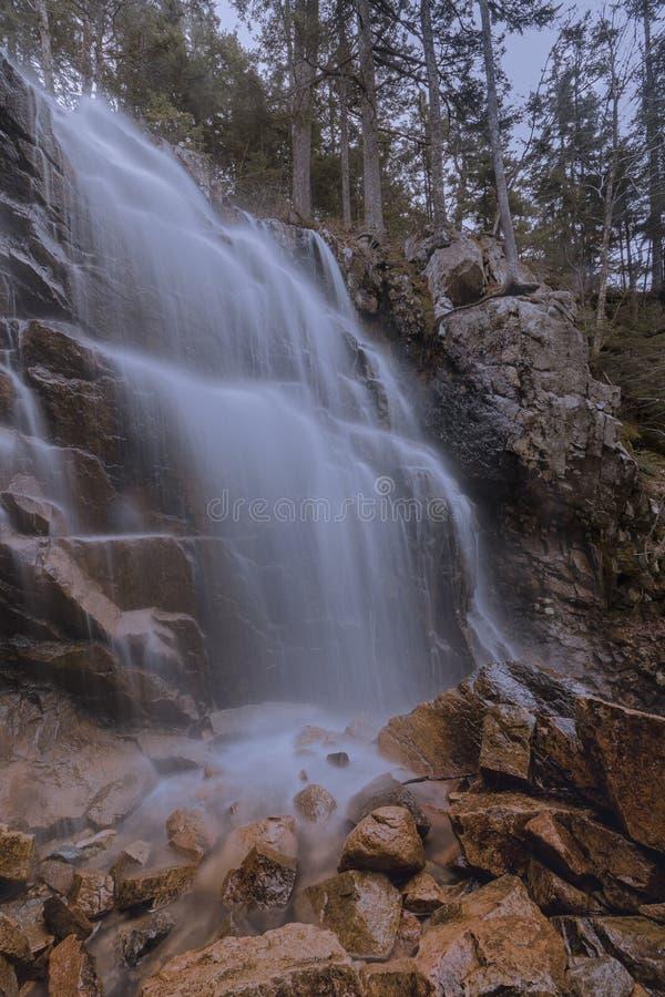 Водопад в Acadia стоковые фотографии rf
