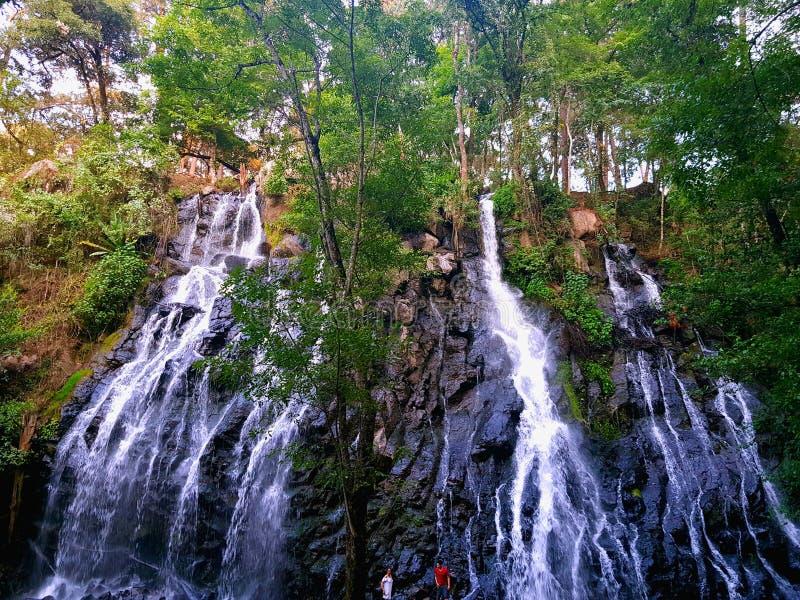 Водопад в Valle de Браво Мексике стоковые фото