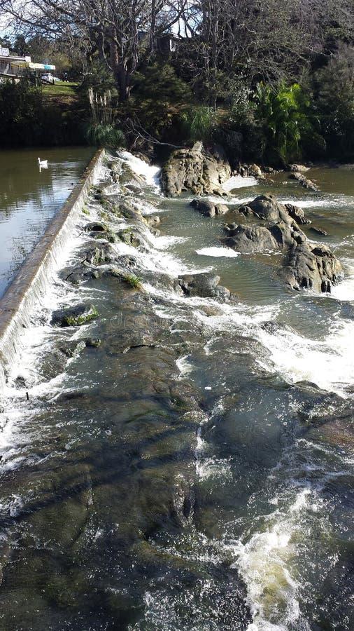 Водопад в Warkworth стоковые изображения rf