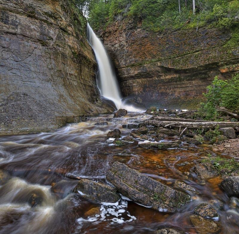 водопад горнорабочих стоковые фото