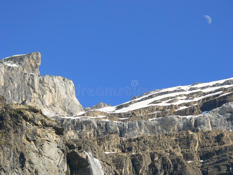 водопад гор луны стоковое изображение rf