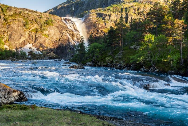 Водопад долины Husedalen стоковая фотография rf